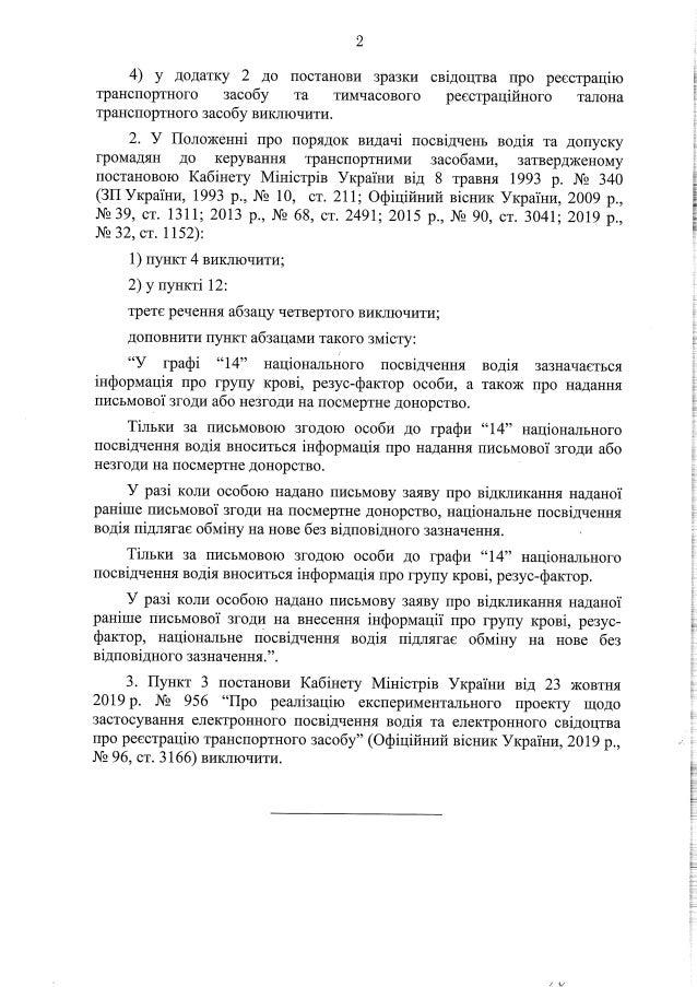 До уваги черкащан: в Україні введуть нові автомобільні посвідчення й техпаспорт