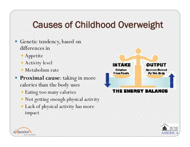 the causes of childhood obesity The fundamental cause of childhood overweight and obesity is an energy imbalance between calories consumed and calories expended global increases in childhood overweight and obesity are attributable to a number of factors including.