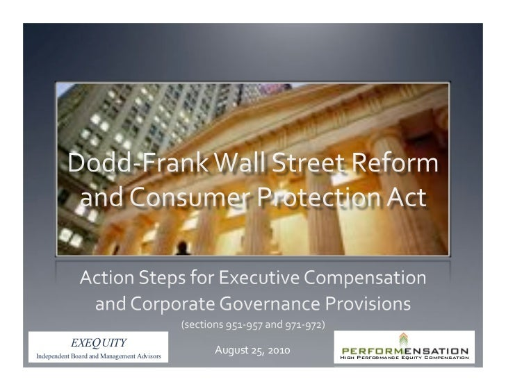 Dodd Frank Action Items for Compensation