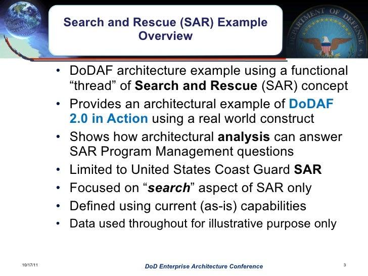 DOD EA conference DoDAF in Action Slide 3