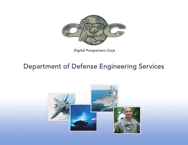 Digital Prospectors Corp    Department of Defense Engineering Services