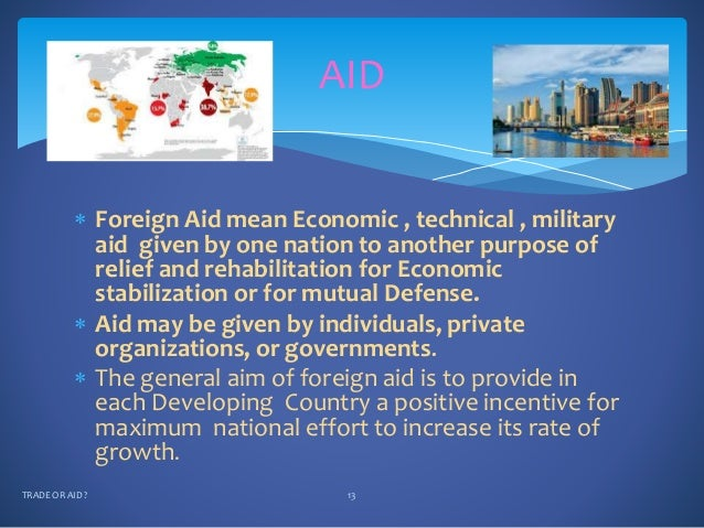 disadvantages of foreign aid Impact of foreign aid on human development and economic  good economic  policy, the early impact of aid on economic growth jumps to.