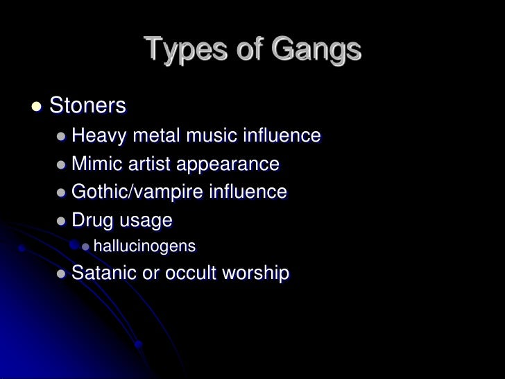 Classification of gangs