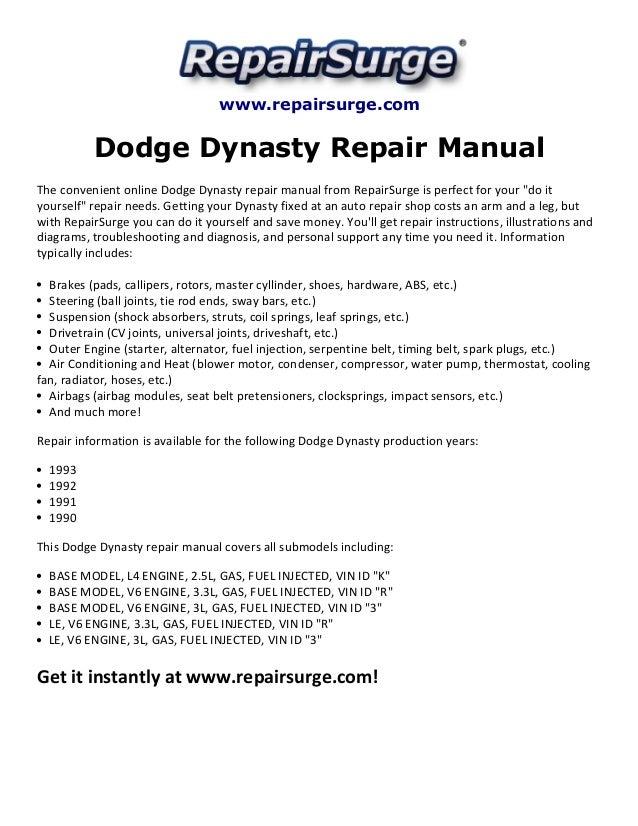 dodge dynasty wiring diagram schematic diagram electronic rh selfit co Starter Wiring Diagram Schematic Circuit Diagram