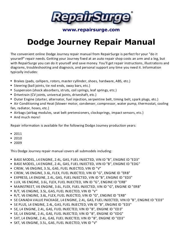 dodge journey repair manual 2009 2011 rh slideshare net 2009 dodge journey service manual pdf 2009 dodge journey service manual pdf