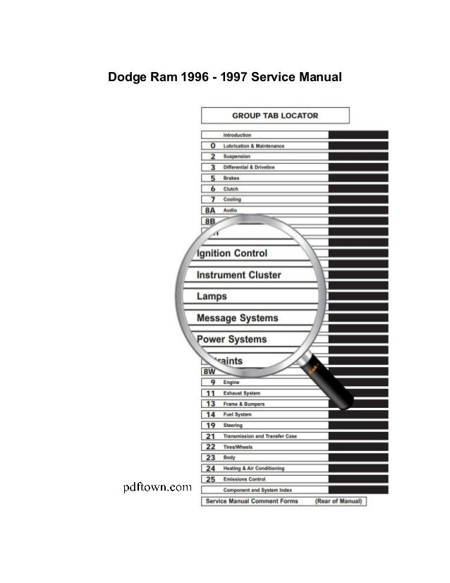 dodge ram 1995 2009 repair manual rh slideshare net 1995 dodge ram 2500 owners manual pdf 1995 dodge ram van owners manual