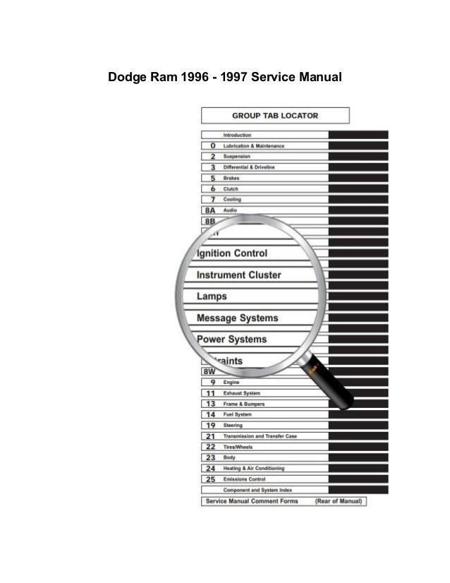 Dodge Ram 1996 1997 Repair Manual border=