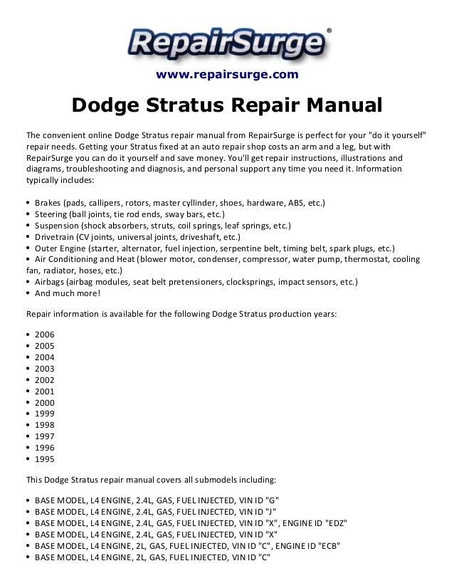 Exciting Dodge 2004 Stratus Sedan Sxt Fuse Box Images - Best Image ...