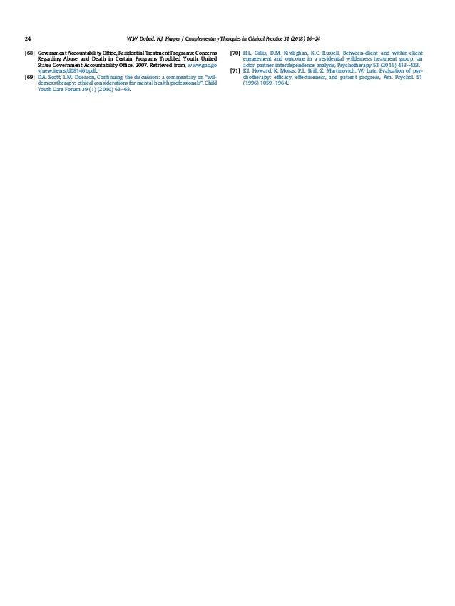[68] Government Accountability Office, Residential Treatment Programs: Concerns Regarding Abuse and Death in Certain Progra...