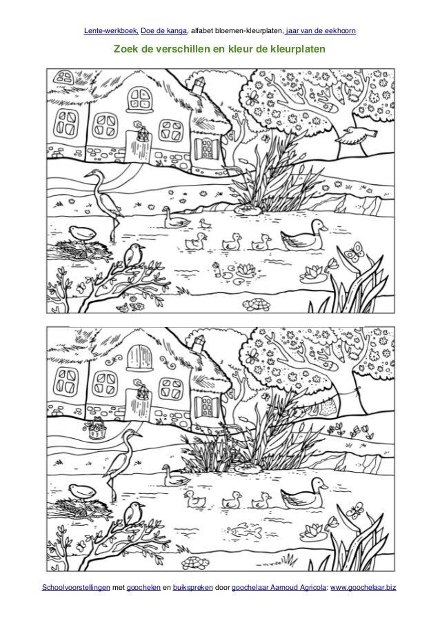 Doe De Kanga Lente Werkboek Met Lente Werkbladen Van