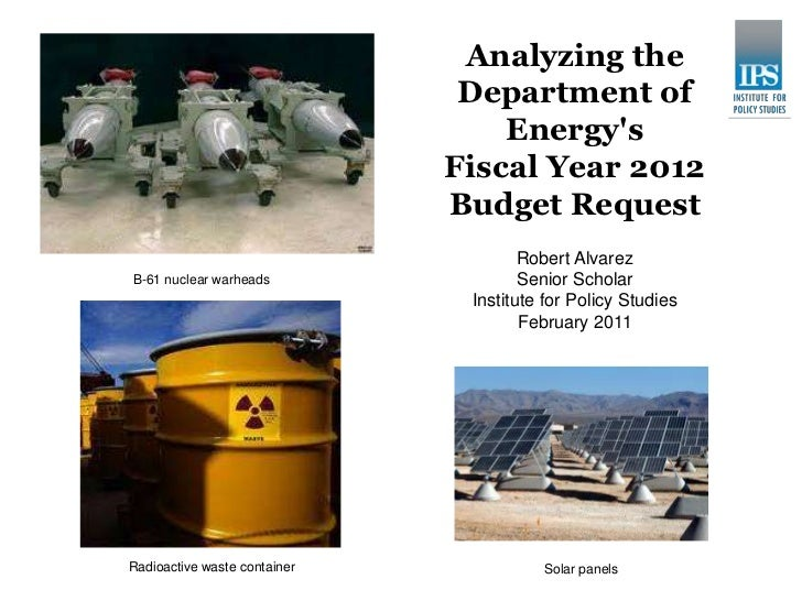 Analyzing the                               Department of                                  Energys                        ...