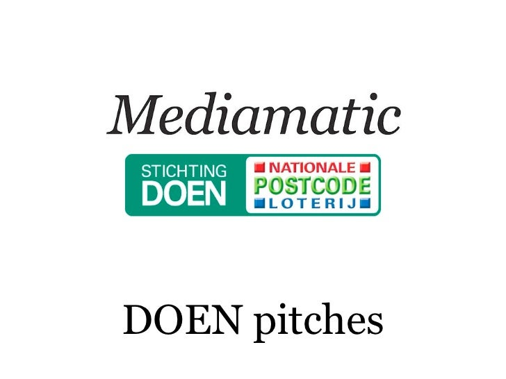 DOEN pitches