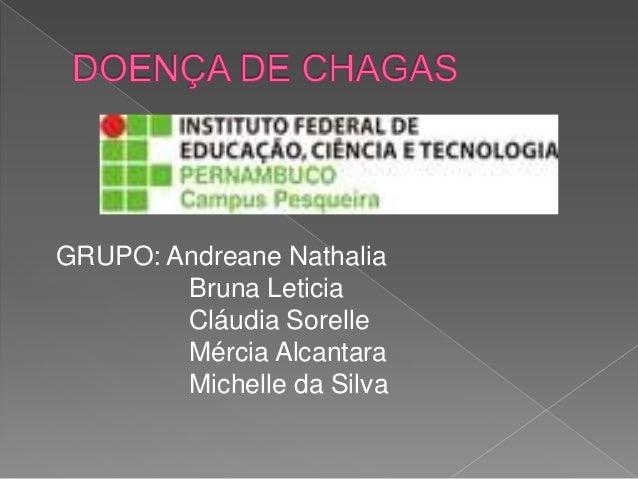 GRUPO: Andreane Nathalia Bruna Leticia Cláudia Sorelle Mércia Alcantara Michelle da Silva