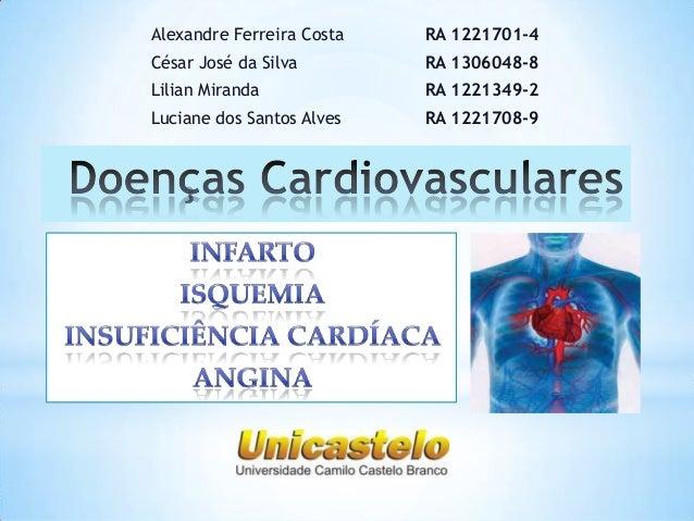 Alexandre Ferreira Costa  RA 1221701-4  César José da Silva  RA 1306048-8  Lilian Miranda  RA 1221349-2  Luciane dos Santo...