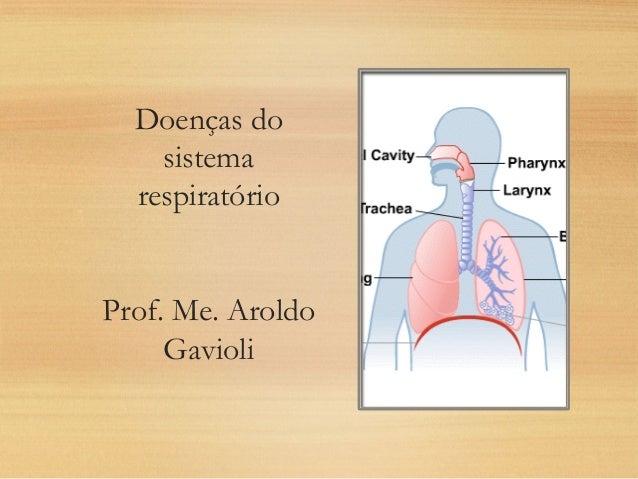 Doenças do sistema respiratório Prof. Me. Aroldo Gavioli