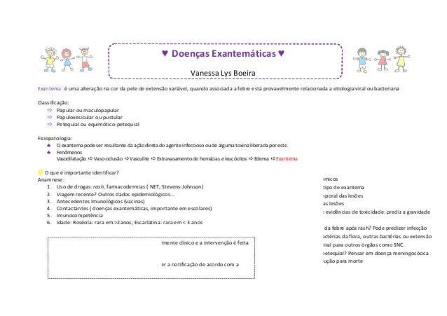 ♥ Doenças Exantemáticas ♥                                                                  Vanessa Lys BoeiraExantema: é u...