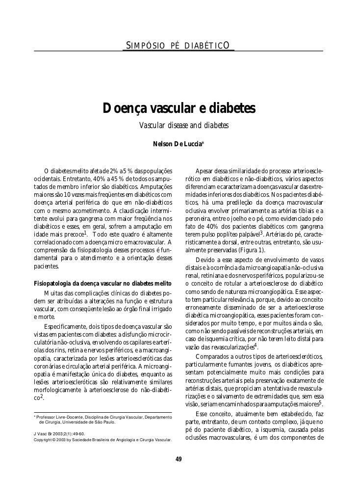 J Vasc Br 2003, Vol. 2, Nº1 49                                                  SIMPÓSIO PÉ DIABÉTICO                     ...