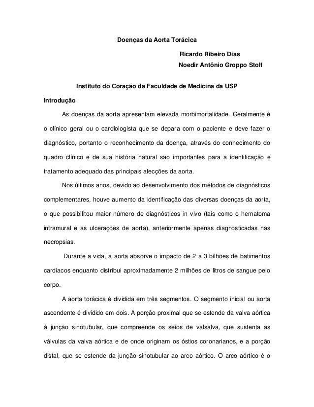 Doenças da Aorta Torácica Ricardo Ribeiro Dias Noedir Antônio Groppo Stolf Instituto do Coração da Faculdade de Medicina d...