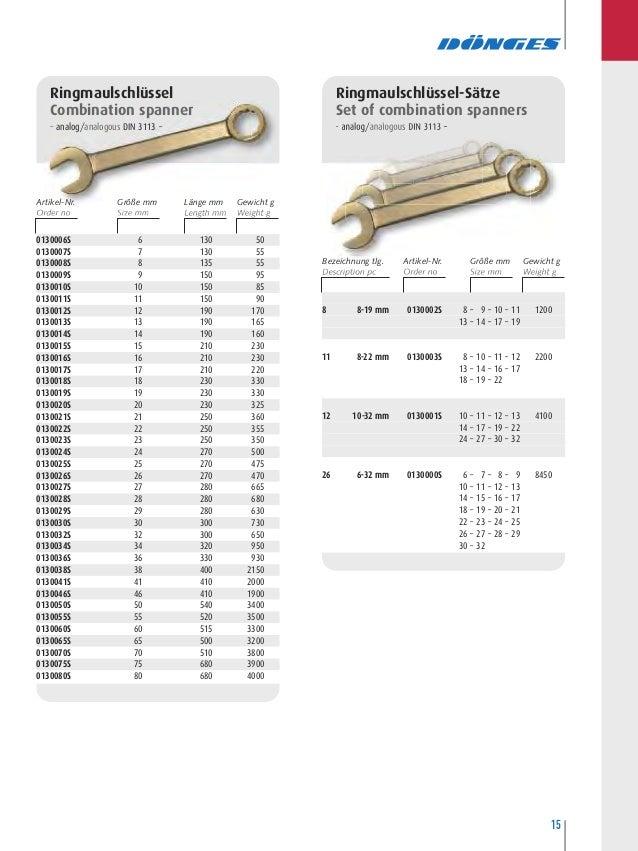Dönges Einmaulschlüssel DIN 894 14 mm