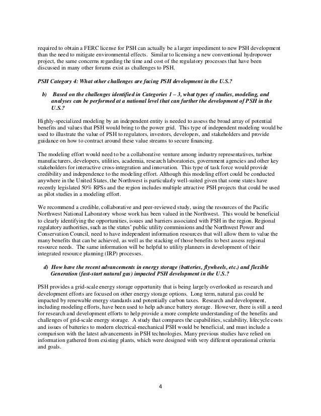 DOE PSH RFI Reponses