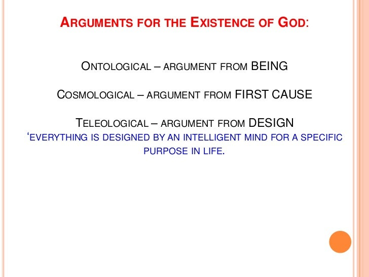 a discussion on the existence of god God and darwin: are they compatible discussion questions will help you explore this question by cannot prove or disprove the existence of some kind of god.