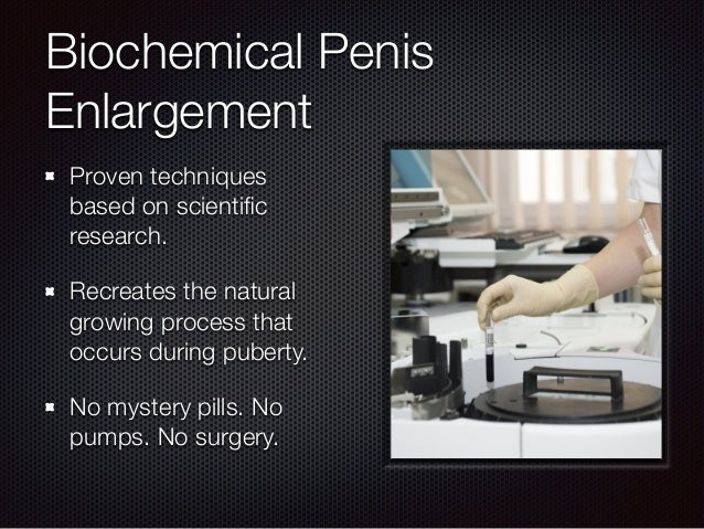 biochemicals for penis growth