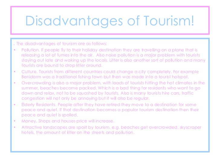advantages and disadvantages of tourism pdf