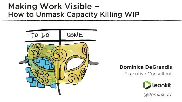 Dominica DeGrandis Executive Consultant Making Work Visible – How to Unmask Capacity Killing WIP...