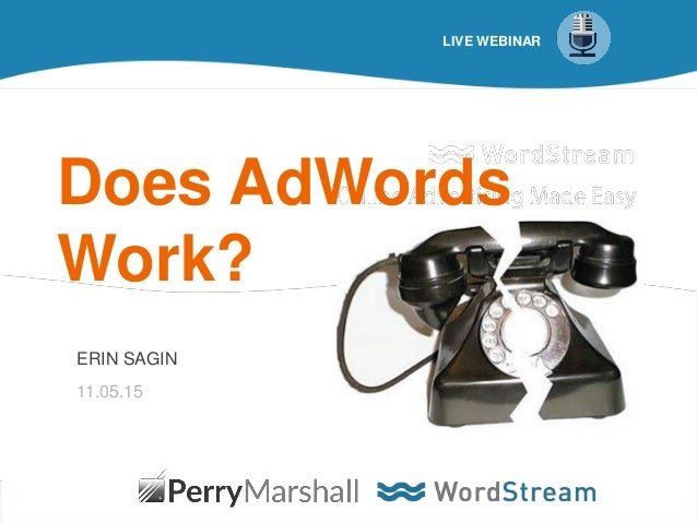 1@erinsagin LIVE WEBINAR Does AdWords Work? ERIN SAGIN 11.05.15