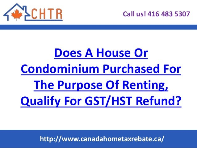 how to get gst refund in canada