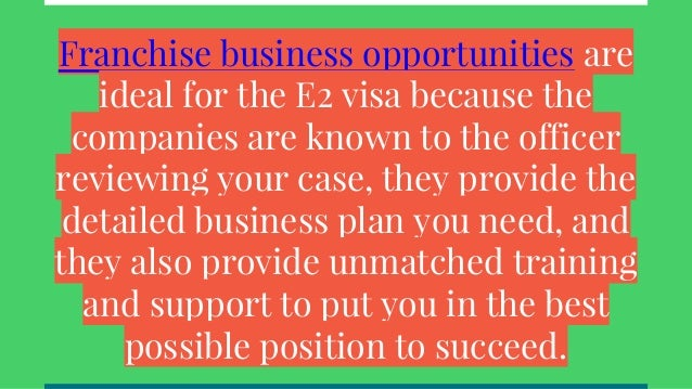 Does an e2 visa lead to a green card 33 franchise business opportunities colourmoves Choice Image
