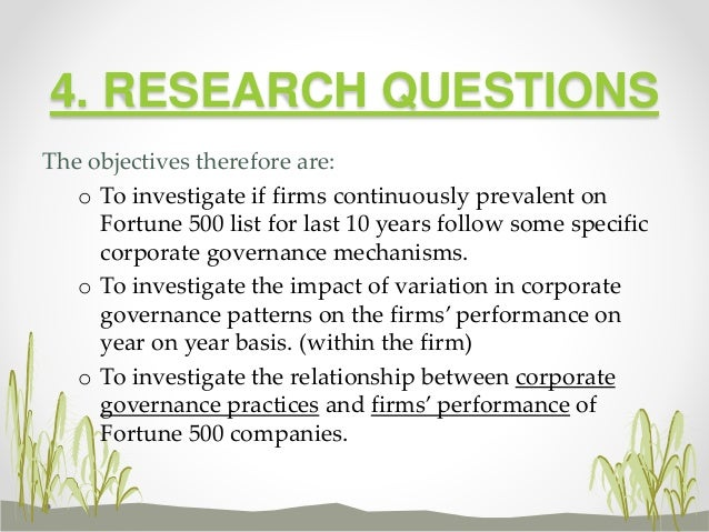Does corporate governance beget firm's performance2