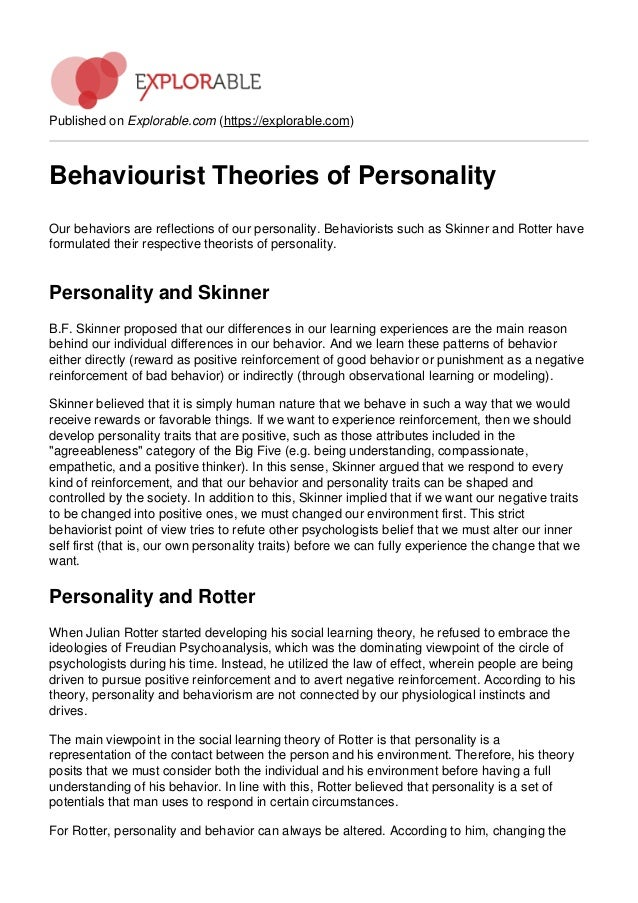 how does personality theories influence your The different theories of personality what is your personality made of the different theories environmental and social influences, innate personality.