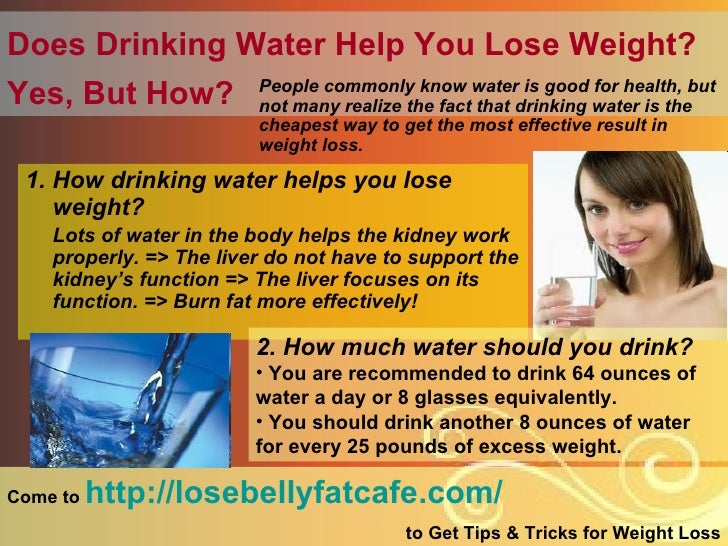 Drinking A Lot Of Water Helps To Lose Weight