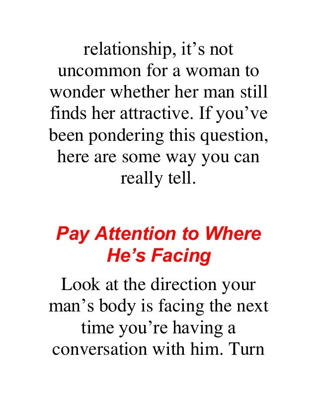 how to know if a man finds you attractive