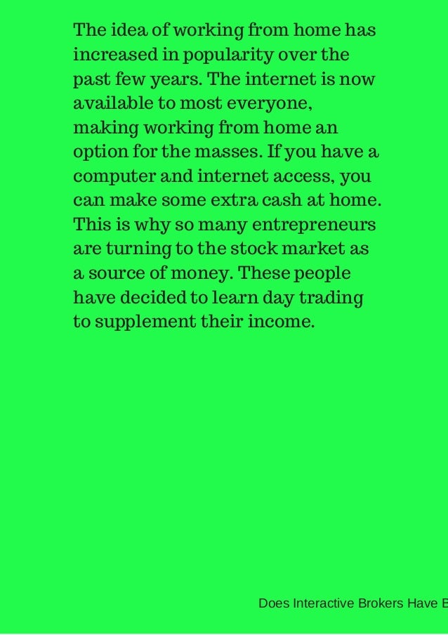 Does interactive brokers offer binary options