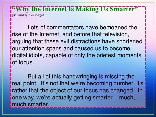 is the internet making us smarter