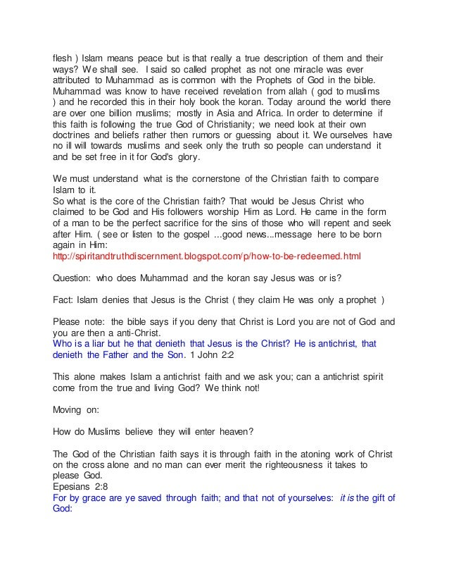 Does Islam Worship The Same God As Christianity