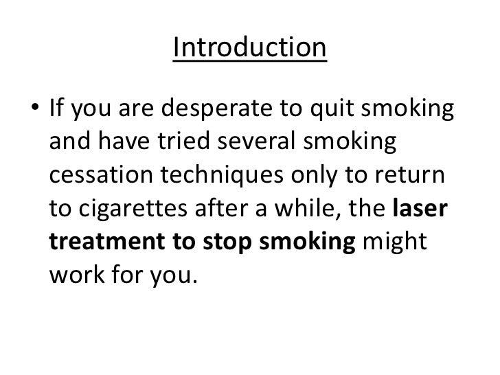 Lazer Treatment For Smoking