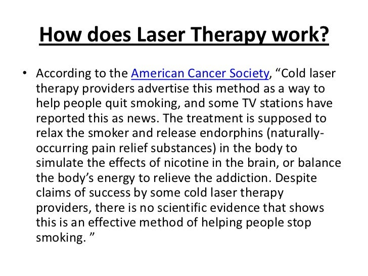 Does Laser Treatment To Stop Smoking Work