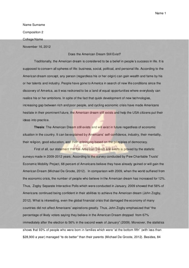 Essay On American Dream  Oklmindsproutco Essay On American Dream