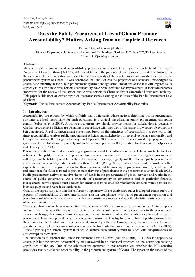 Developing Country Studies www.iiste.orgISSN 2224-607X (Paper) ISSN 2225-0565 (Online)Vol.3, No.5, 201338Does the Public P...