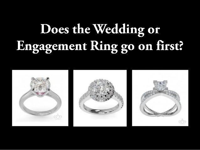 ... Engagement Ring Go On First?  Theexchangeofringsisaformalsignthatthemarriagecontract,orpact,  Hasbeensealed.Theringfingerofthelefthandwaschosenbecauseanc.