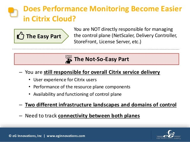 Does Using Citrix Cloud Make Performance Monitoring Easier?