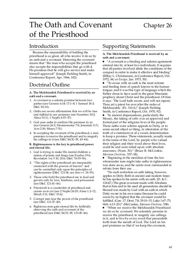The Oath and Covenant                                                                   Chapter 26of the PriesthoodIntrodu...