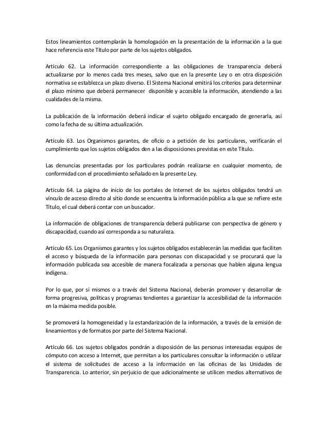 Dof ley general de transparencia y acceso a la informacion for Oficina de transparencia y acceso ala informacion