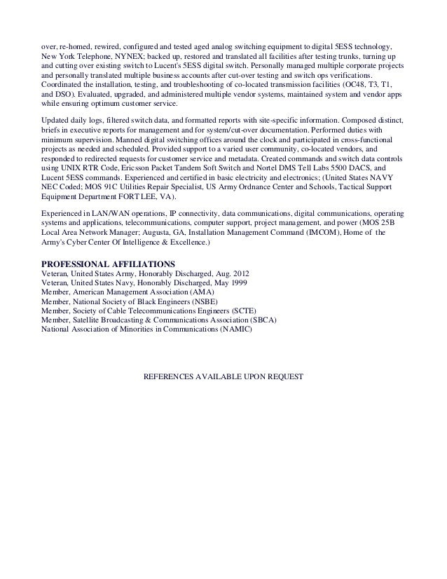 Unique Army Installation Management Command Resume Model ...