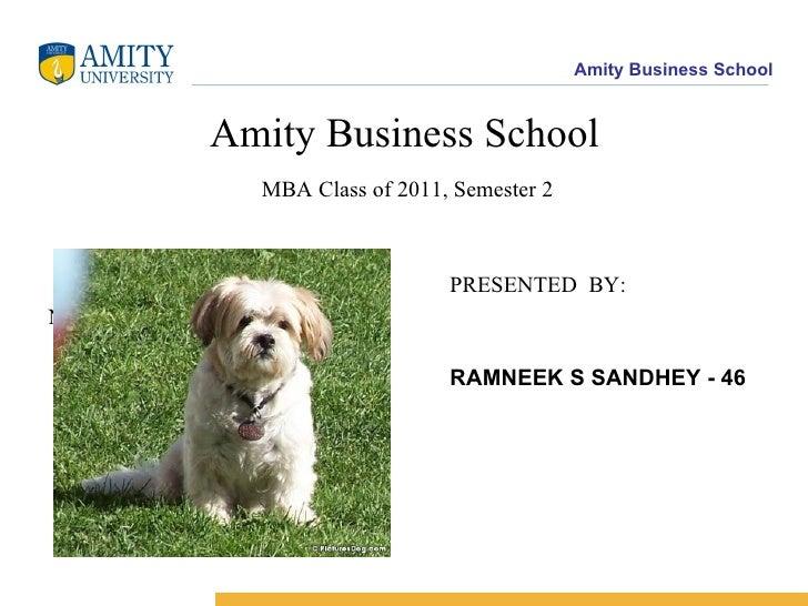 <ul><li>Amity Business School   MBA Class of 2011, Semester 2 </li></ul><ul><li>PRESENTED  BY: </li></ul><ul><li>NINGOMBAM...