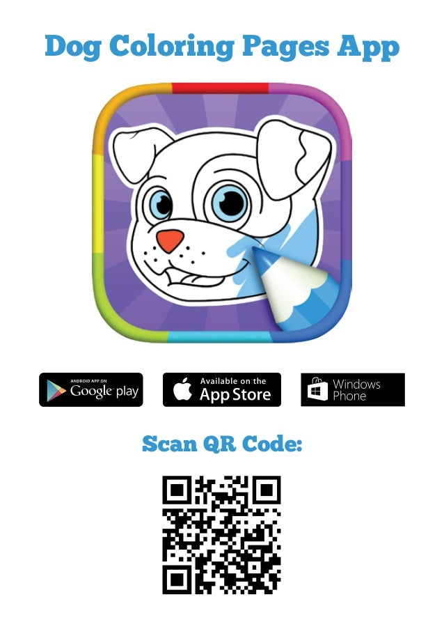 Scan QR Code Dog Coloring Pages App