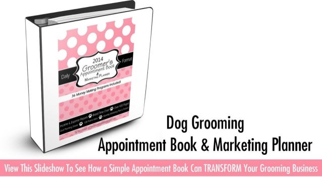 Dog Grooming Appointment Books